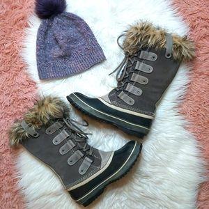 Joan Of Arctic Sorel Suede Leather Fur Trim Boots